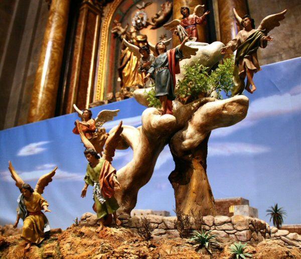 belén en la Basílica Pontificia de San Miguel