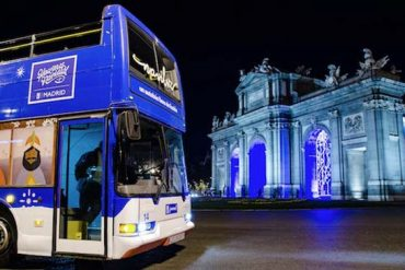 Arranca Naviluz, el autobús de la Navidad de Madrid