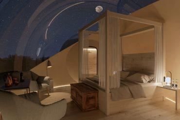 Experimenta dormir bajo las estrellas en un hotel burbuja
