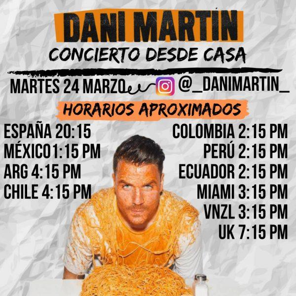 Dani Martin dará un concierto gratuito a través de las redes
