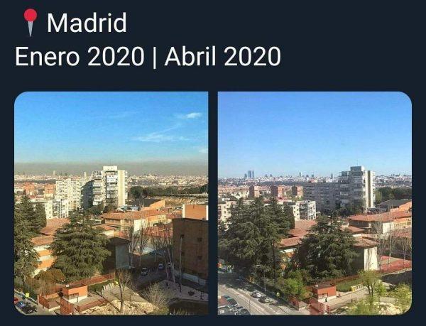 La boina de contaminación ha desaparecido del cielo de Madrid