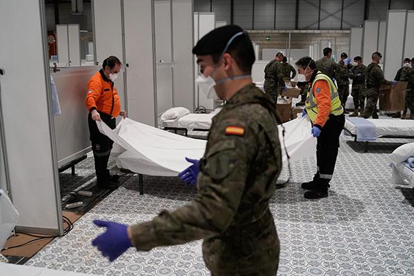 Organización Mundial de la Salud felicita a Madrid por hospital de IFEMA