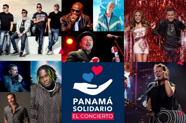 Ricky Martin, Carlos Vives y Rubén Blades en concierto