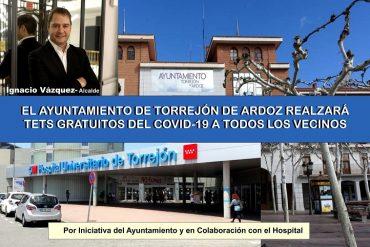 Torrejón de Ardoz realizará gratis test del coronavirus a toda su población