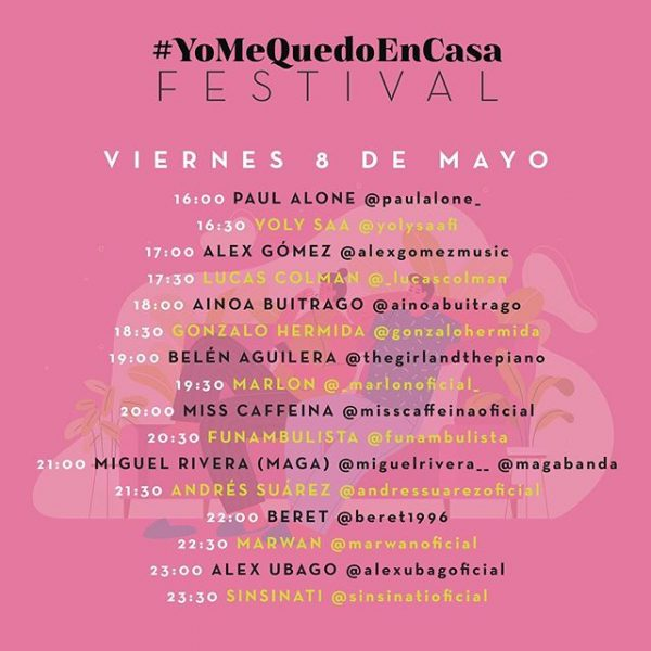 #YoMeQuedoEnCasa Festival regresa este fin de semana