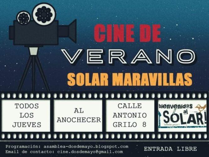 Cine de verano gratis en el Solar Maravillas de Malasaña