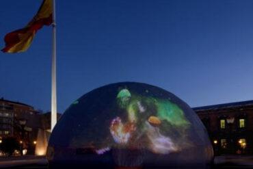 Espectáculo audiovisual gratuito en la plaza de Colón