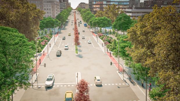 El nuevo bulevar Joaquín Costa tendrá zonas verdes y museo al aire libre