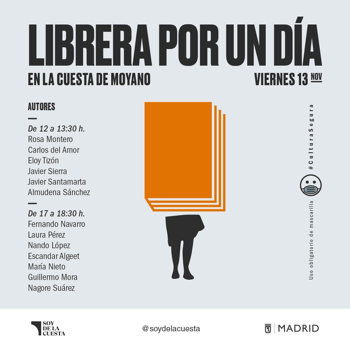 Escritores y artistas serán libreros por un día en la Cuesta de Moyano