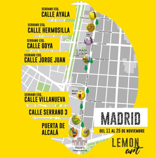 Se instala en Madrid una exposición de limones gigantes