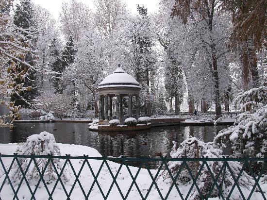 Espectaculares postales de nieve en la ciudad de Aranjuez