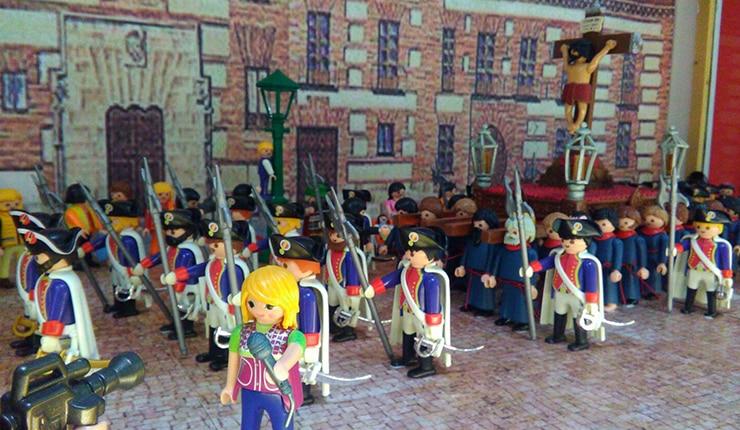 Exposición gratuita de los clicks de Playmobil sobre la historia de Madrid