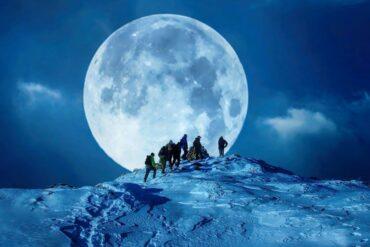 Febrero se despide con el regalo astronómico de la luna de nieve 2021