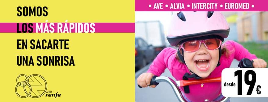 Renfe saca billetes de Ave a 19 euros por el 29 aniversario del primer Ave