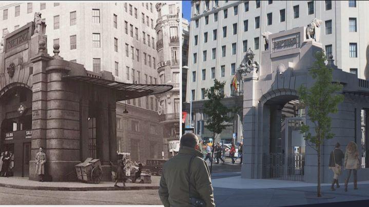 La estación de Metro de Gran Vía lucirá el icónico templete de Palacios