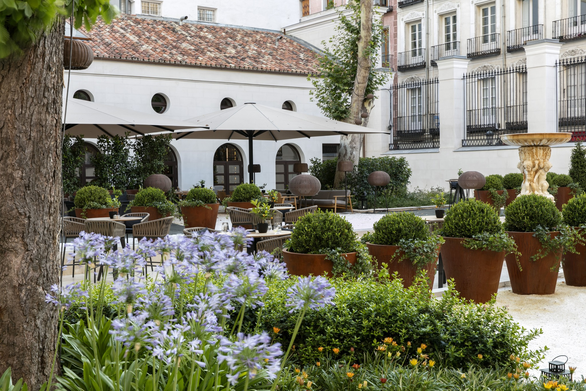 Espectacular obra floral con 6.500 flores emerge en el centro de Madrid