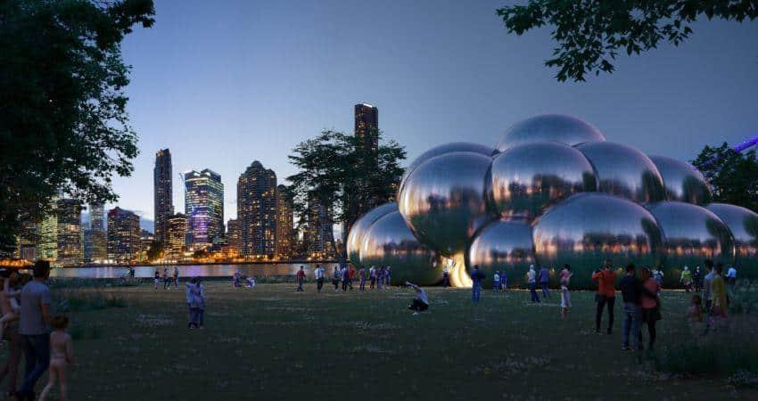 'Bounce by Circa' nuevo circo bajo una constelación de burbujas cromadas