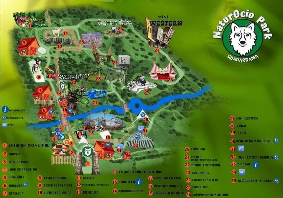 Naturocio Park en Guadarrama, el mayor parque multiaventura de España