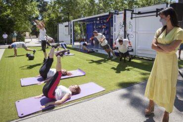 El gimnasio gratuito de Cubo Gym Madrid se traslada a Madrid Río