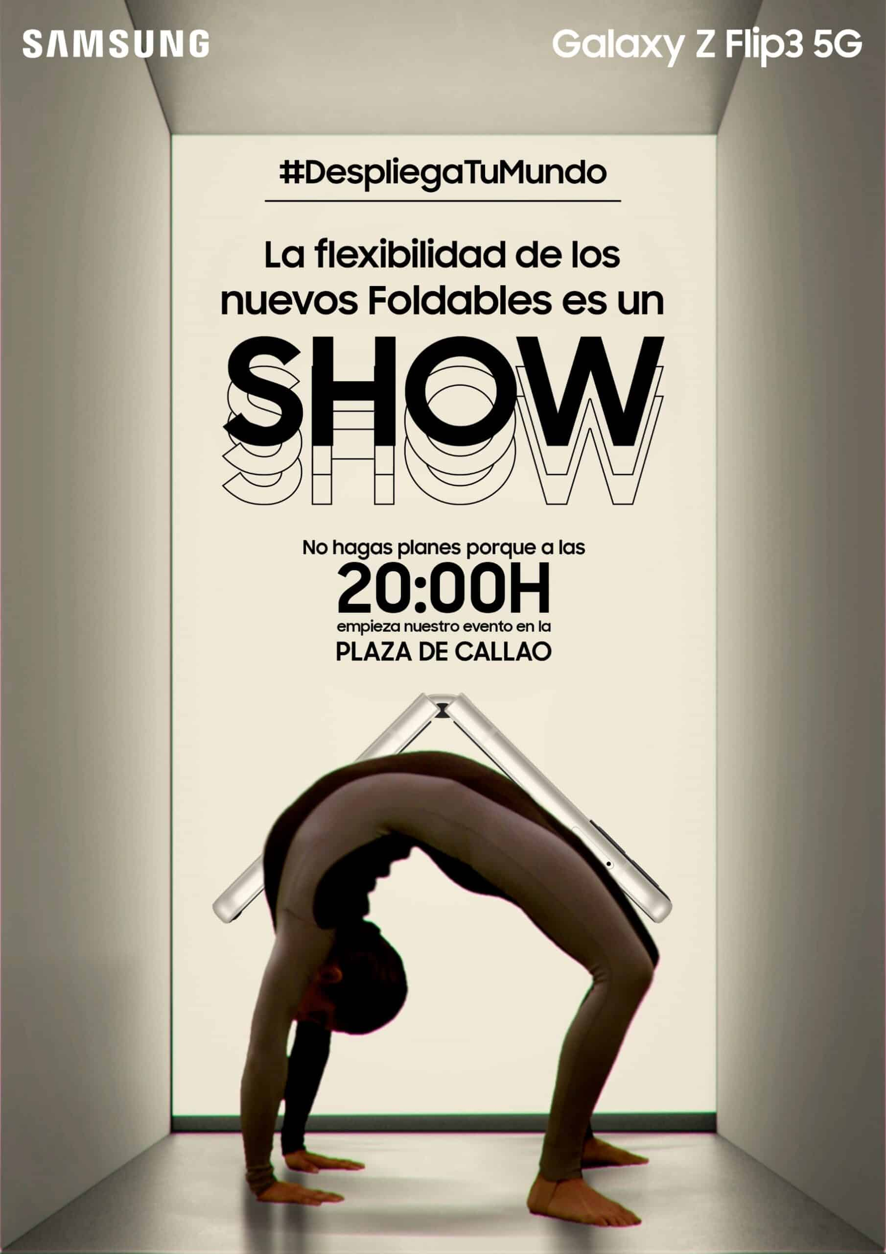 Show gratuito de contorsionismo a cargo de Cirque du Soleil