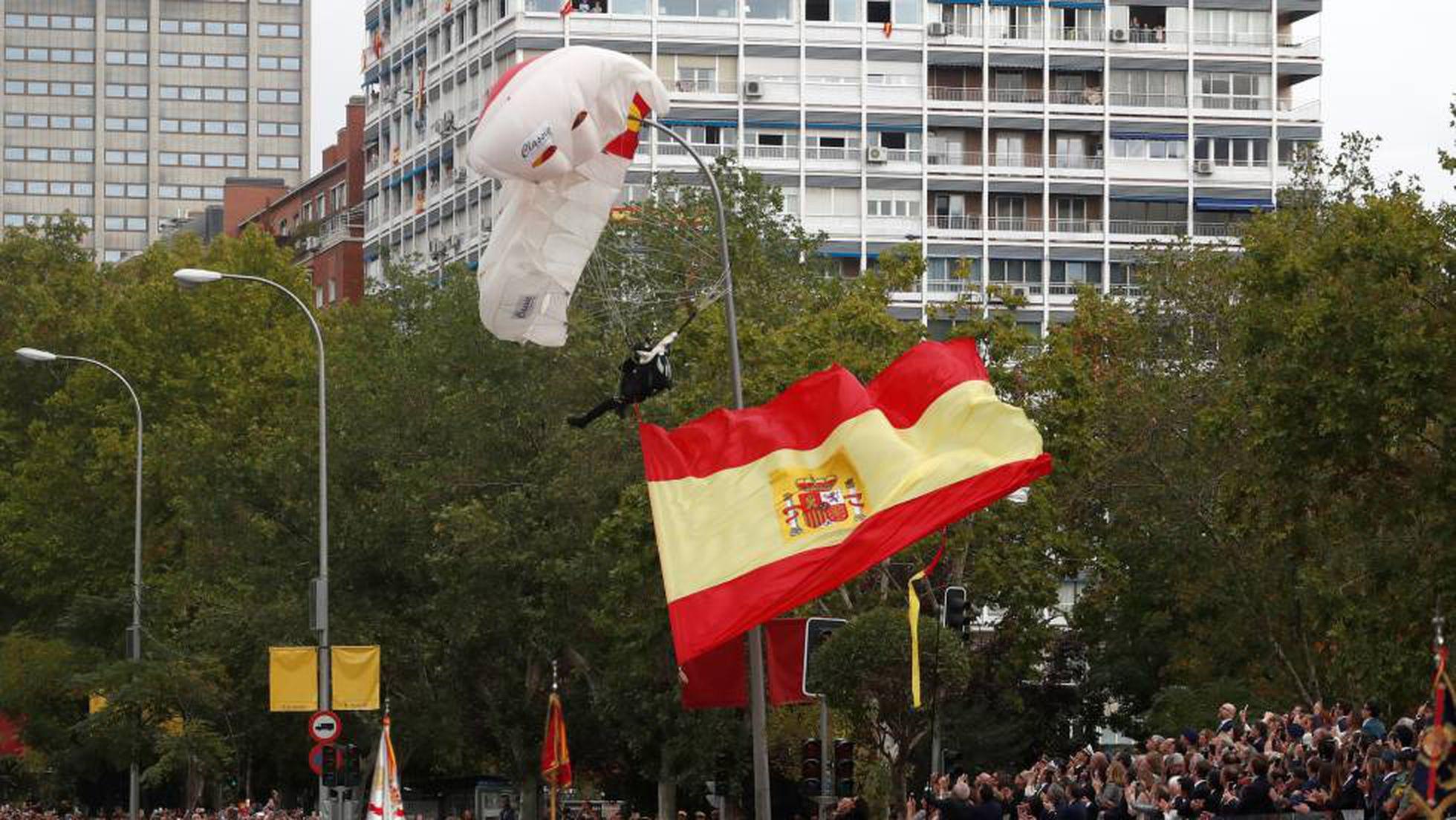 Los paracaidistas serán protagonistas en el desfile militar de la Hispanidad
